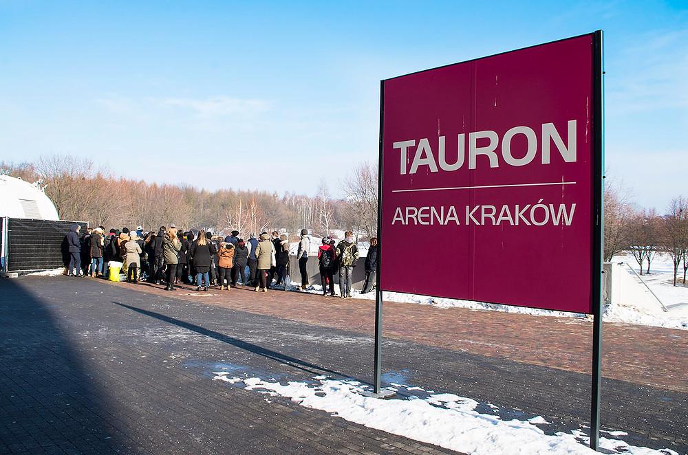 Green Day line in Kraków, Poland
