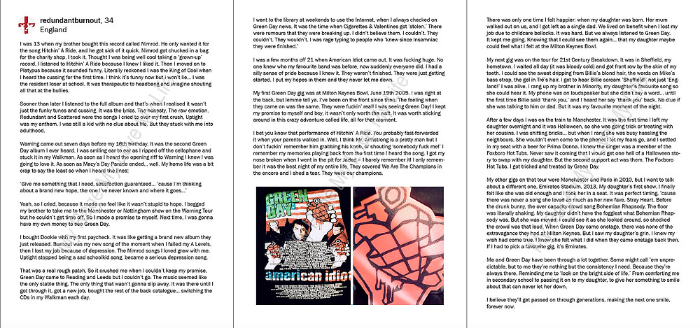 Story by English Green Day fan redundantburnout from the We Are Revolution Radio book