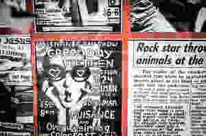 Green Day Gilman Street flyer