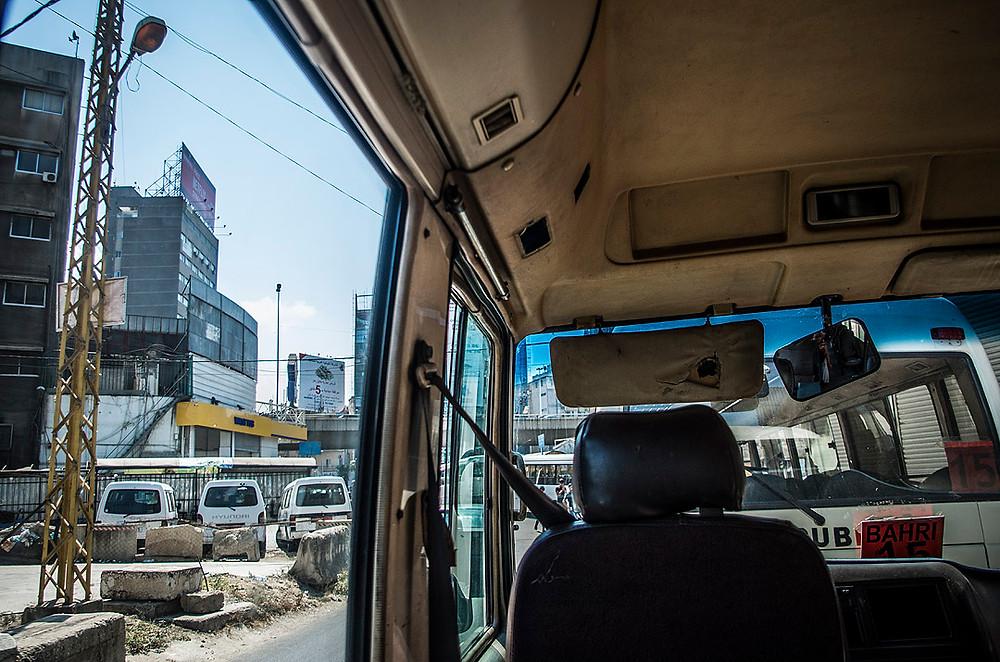 Bus depot in Beirut, Lebanon