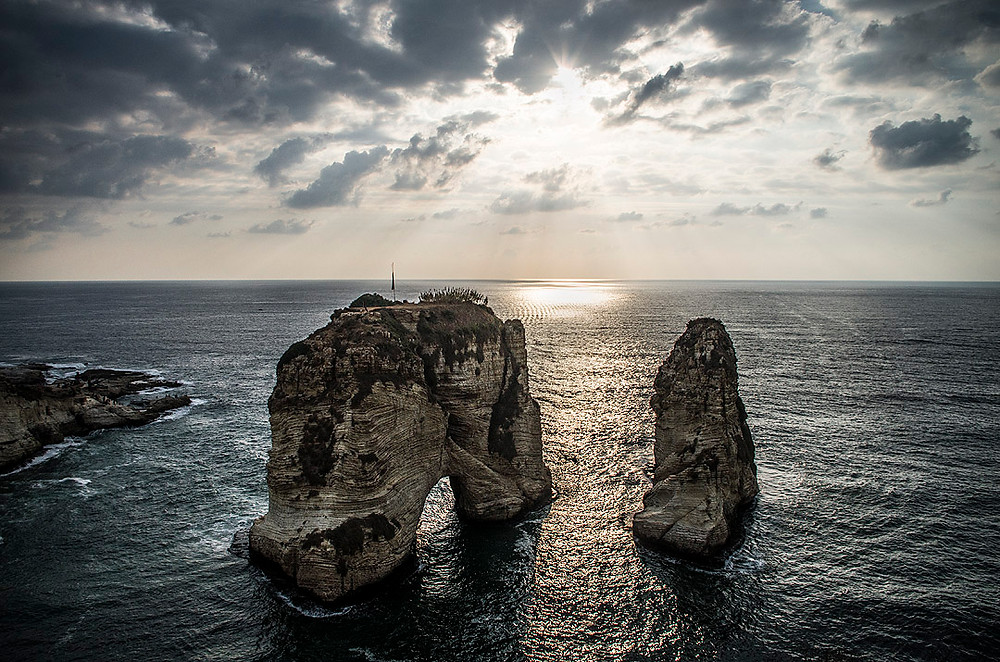 Raouche Pigeon Rocks, Beirut, Lebanon