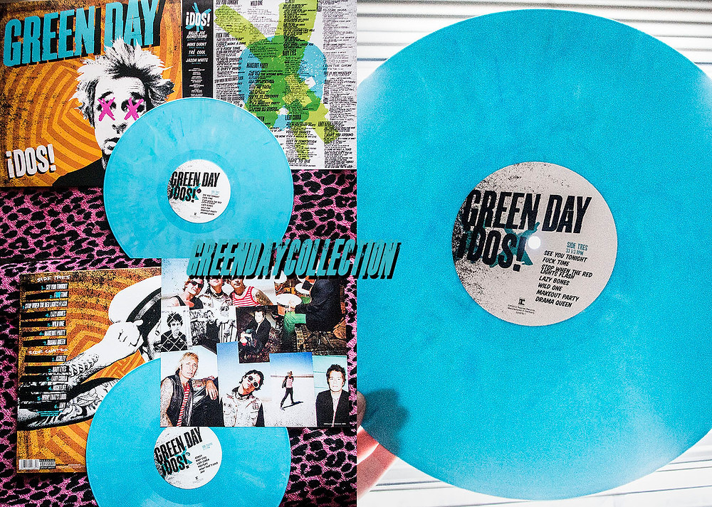 Green Day ¡Dos! Hot Topic blue vinyl