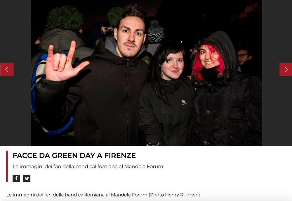 Green Day fans in Florence, Italy