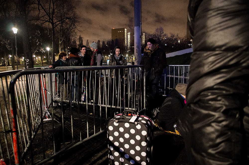 Green Day fans queuing in Paris