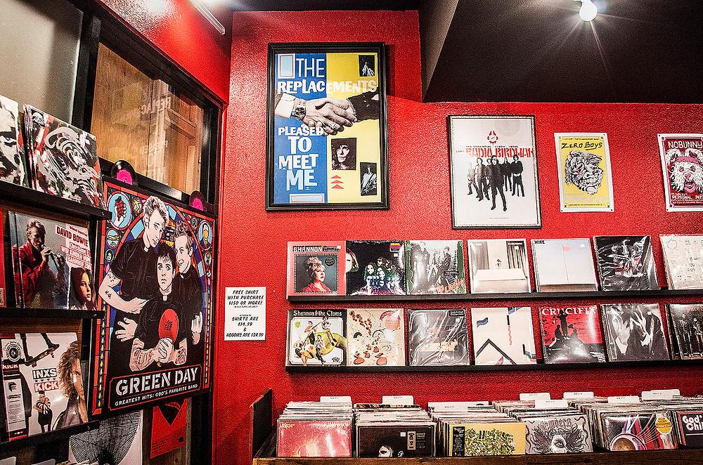 Inside 1-2-3-4 GO! Records, Oakland, CA