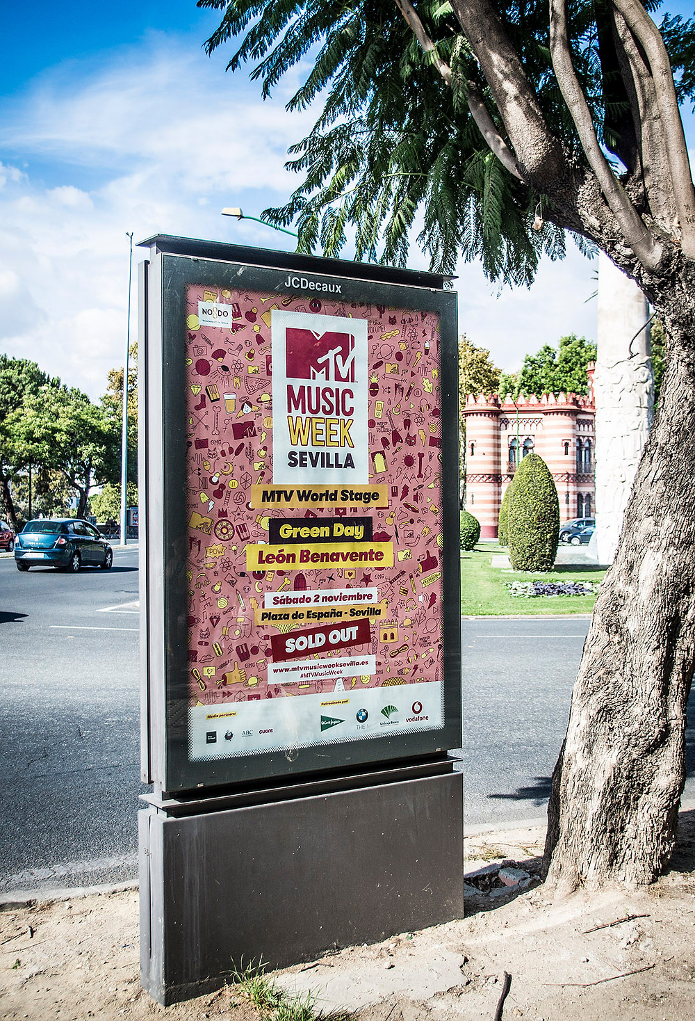 Green Day MTV World Stage poster in Seville
