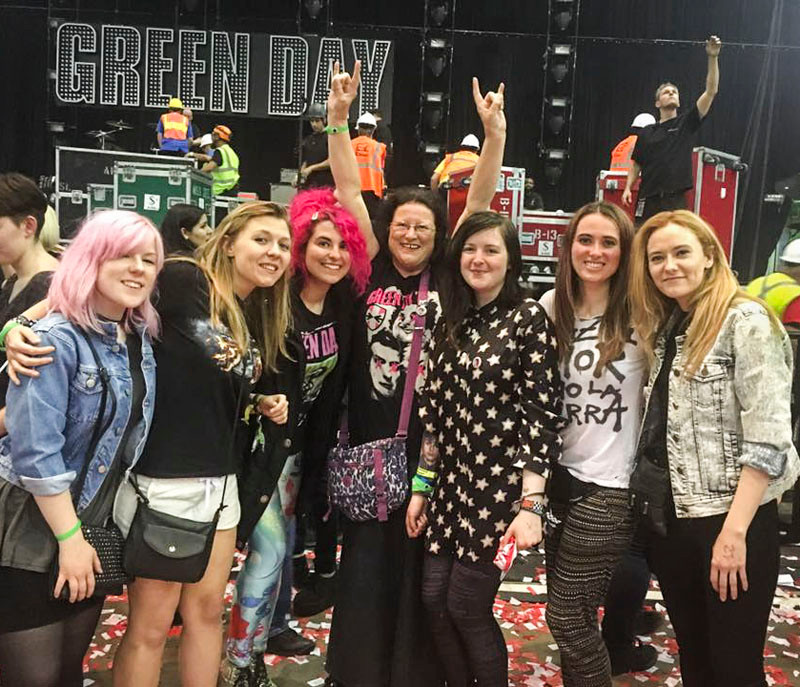 Green Day fans in Las Vegas