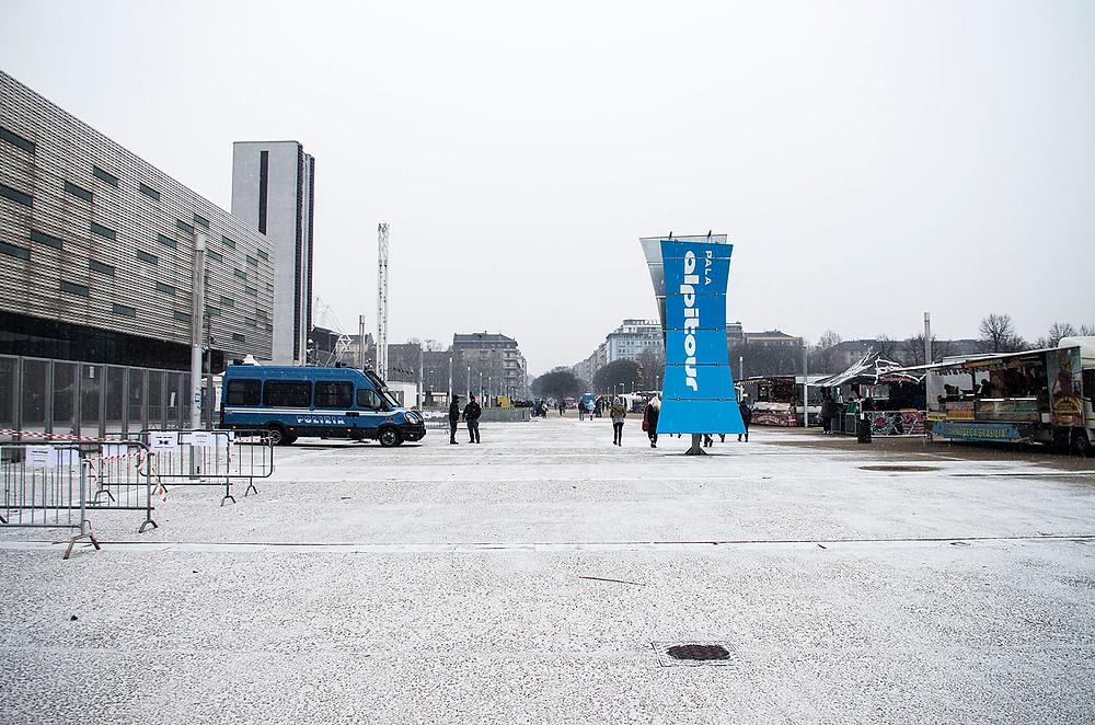 Snow before Green Day at Pala Alpitour, Turin, Italy