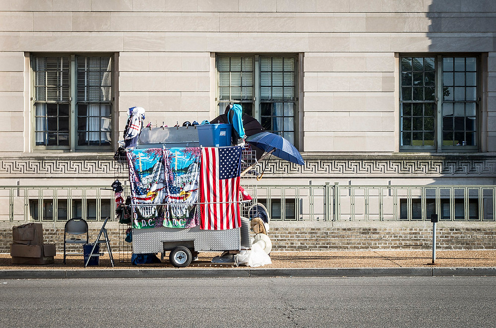 Street souvenir stall in Washington DC
