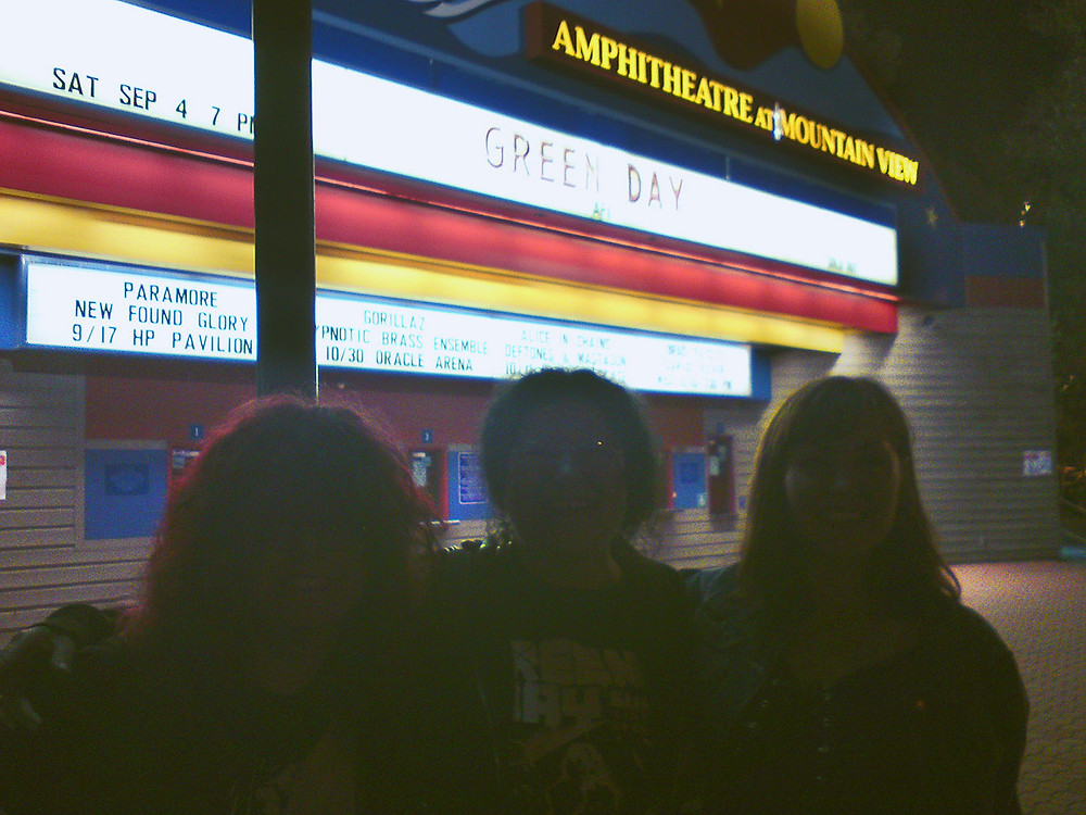Green Day fans at the Shoreline Amphitheatre, 2010