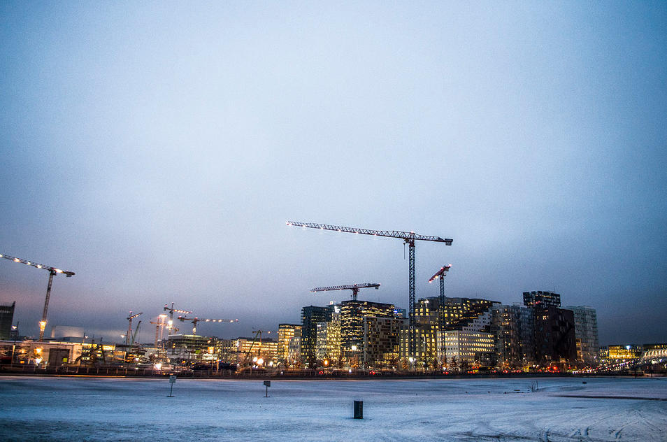 Oslo skyline at night