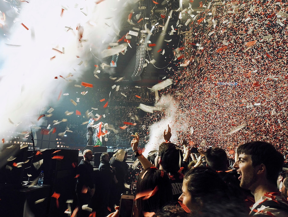 Green Day Revolution Radio confetti in Milan, Italy
