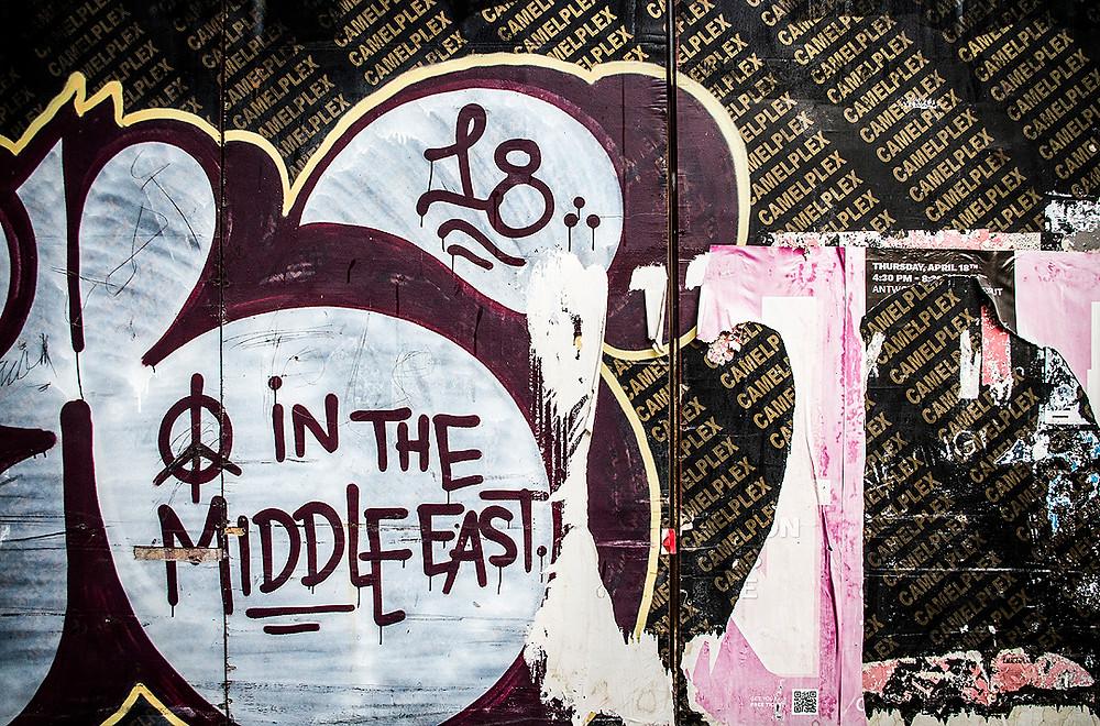 Peace graffiti in Gemmayzeh, Beirut