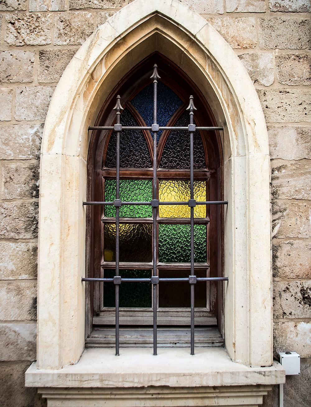 Window of the Al Majidieh Mosque