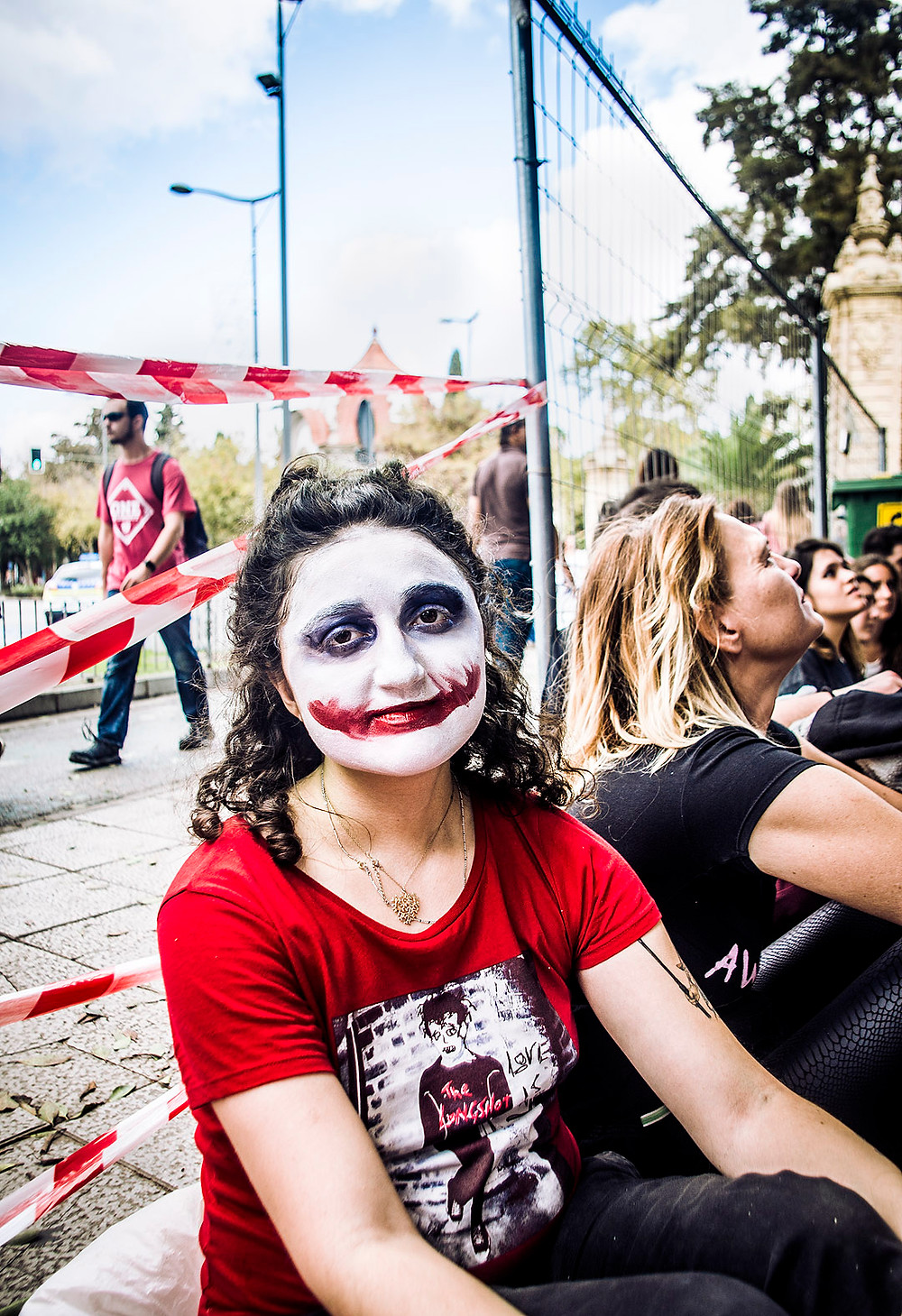 Green Day fans lining up for MTV World Stage in Seville