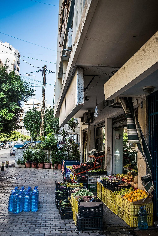 Supermarket in Ras Beirut, Lebanon