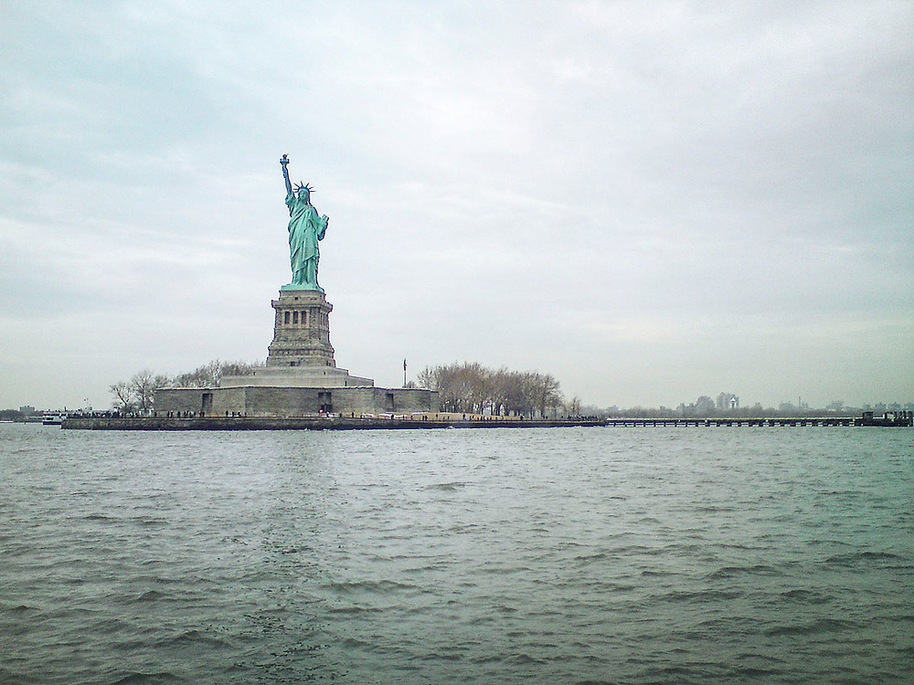 Statue of Liberty from the Hudson River