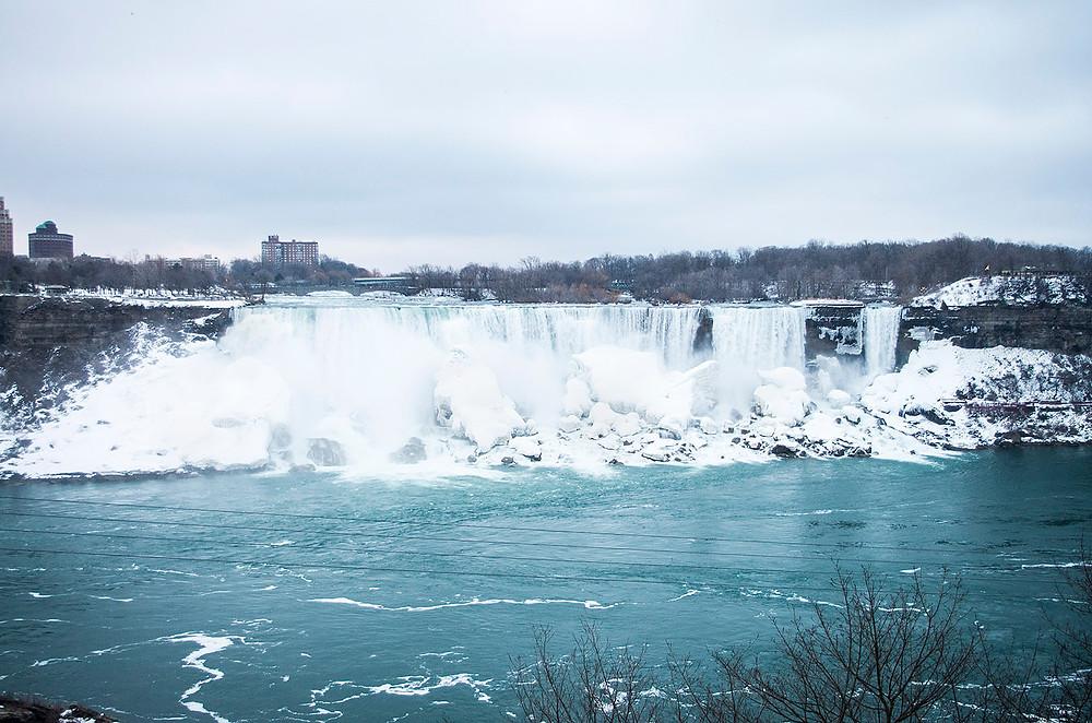 Niagara Falls Canadian side winter