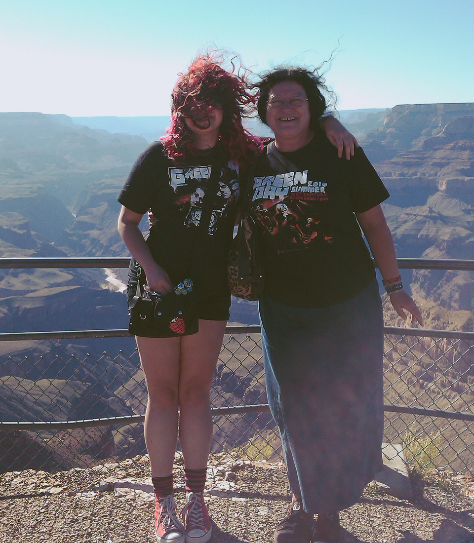 Green Day fans at the Grand Canyon