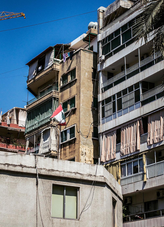 Apartment block in Beirut, Lebanon