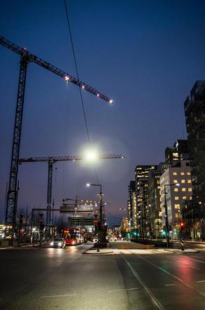 Oslo streets at night