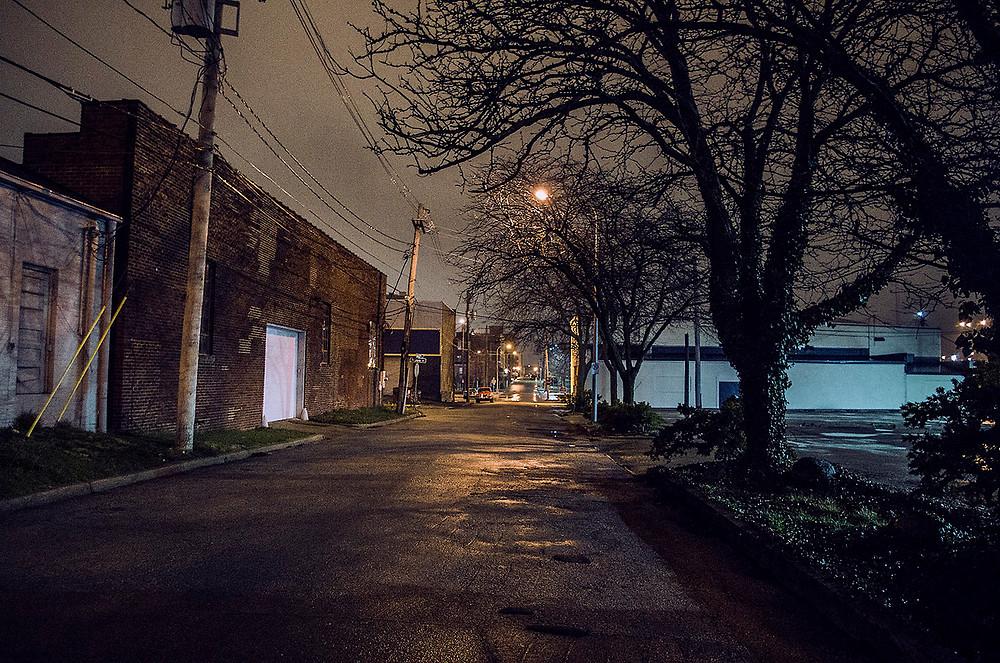 Champaign, Illinois at night