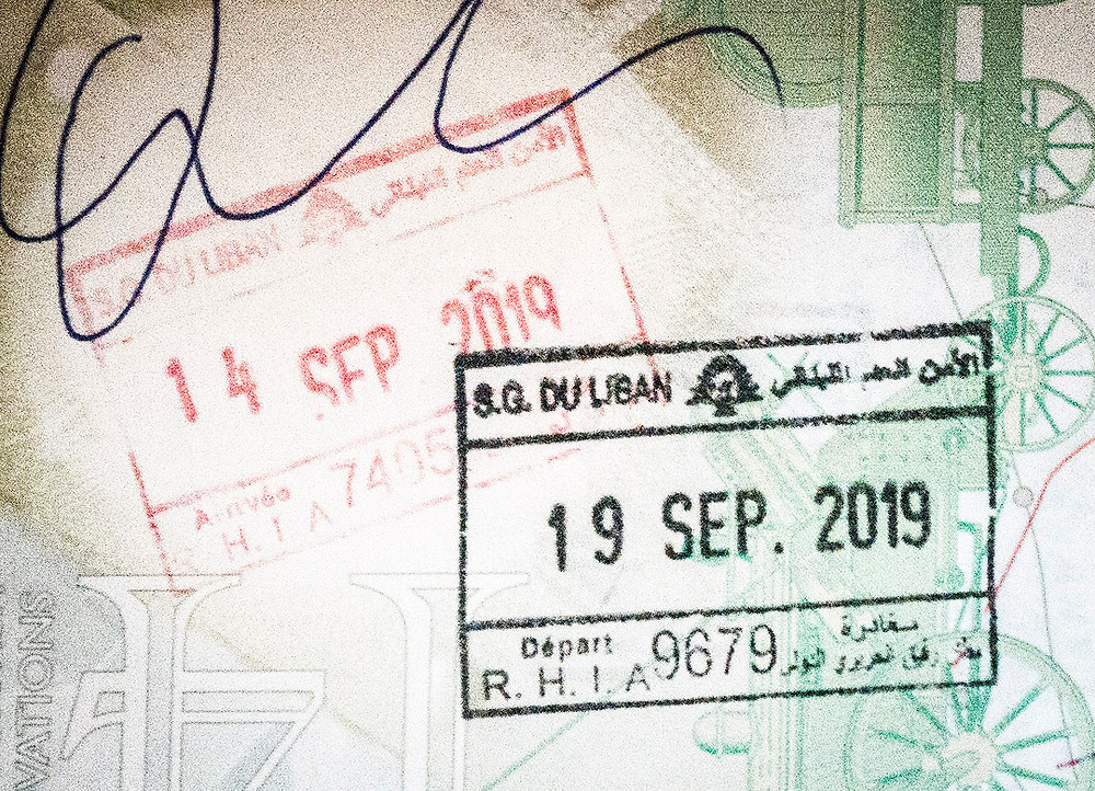 Lebanese passport stamps