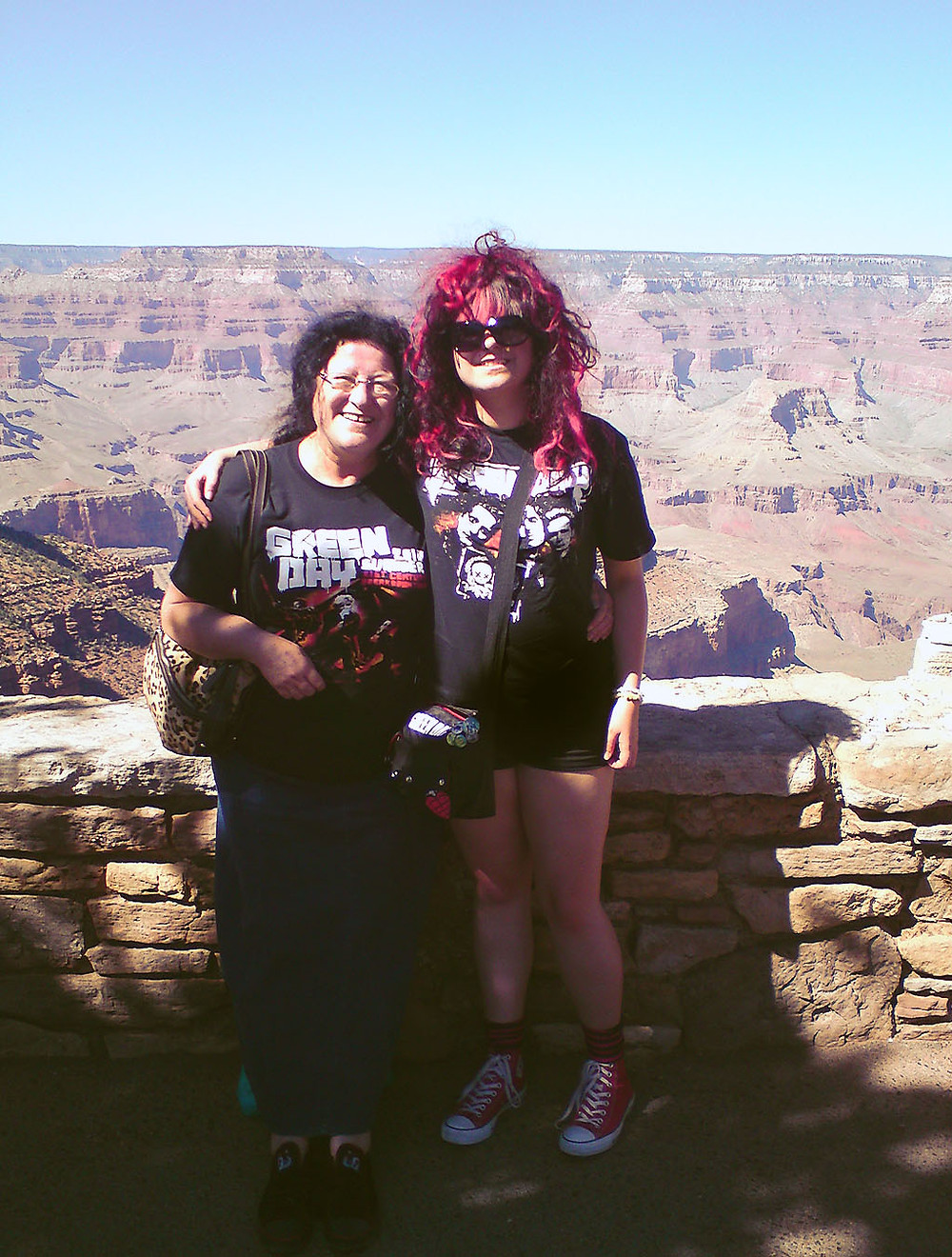 Green Day fans at the Grand Canyon, Arizona