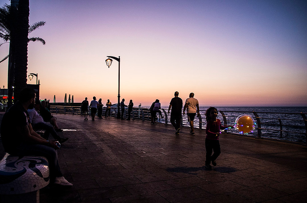 Beirut Corniche Sunset