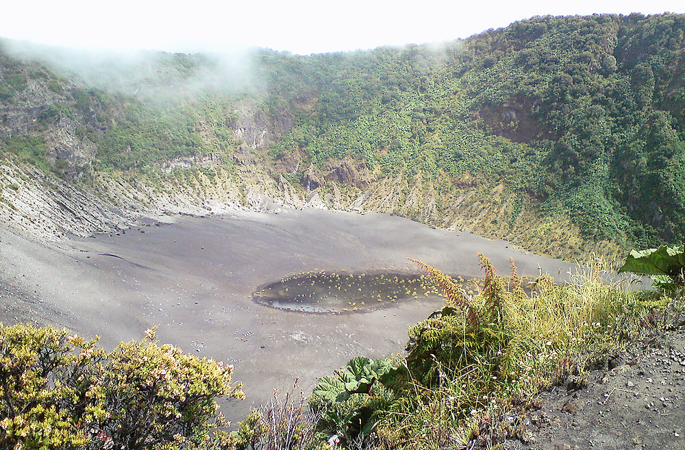 The main crater at Irazú Volcano, Costa Rica