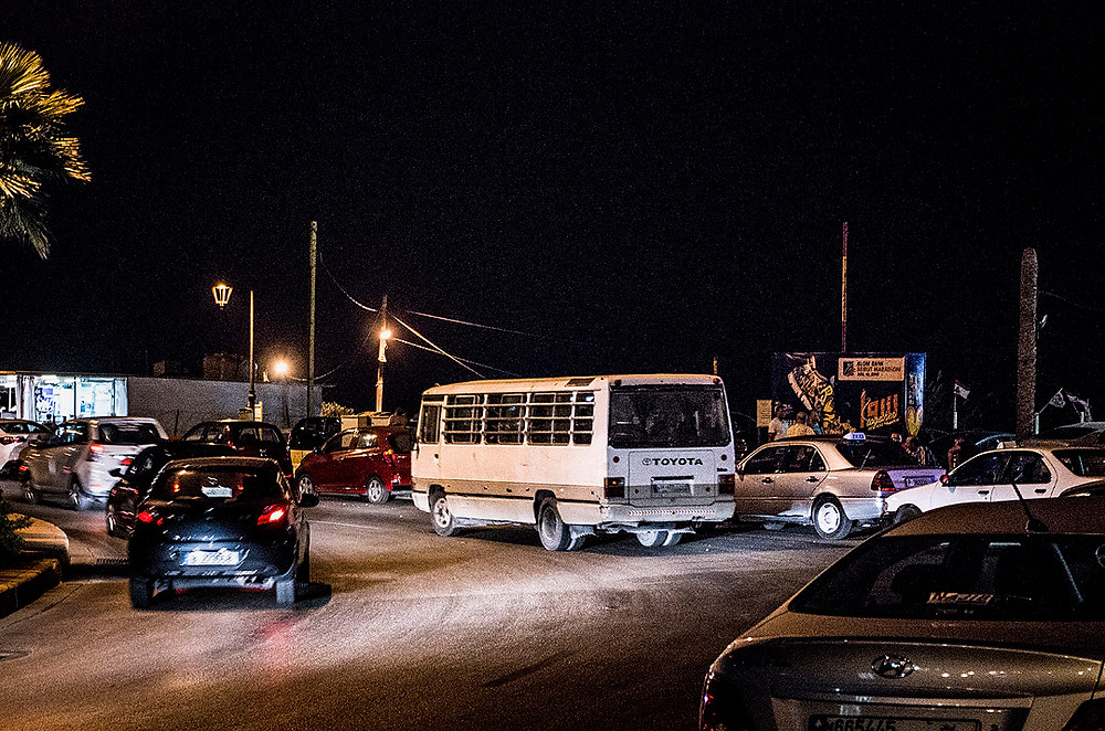 15 bus in Beirut, Lebanon at night