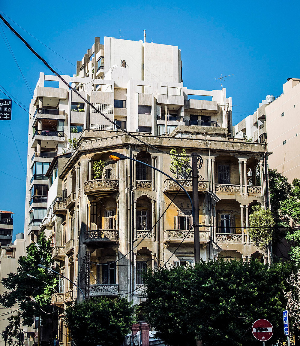 Buildings in Ras Beirut, Lebanon