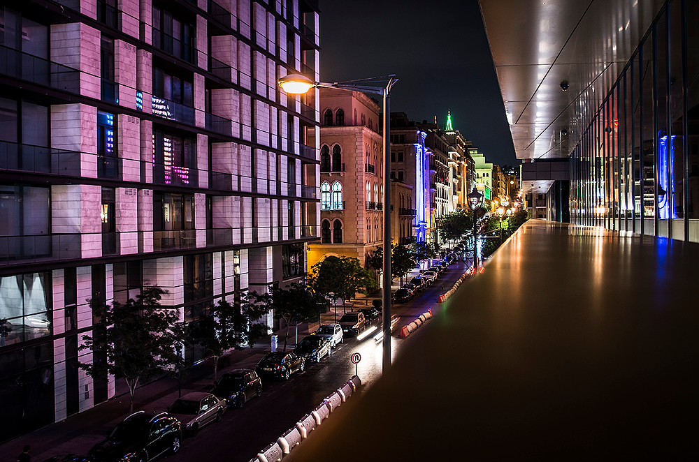 View from Beirut Souks at night