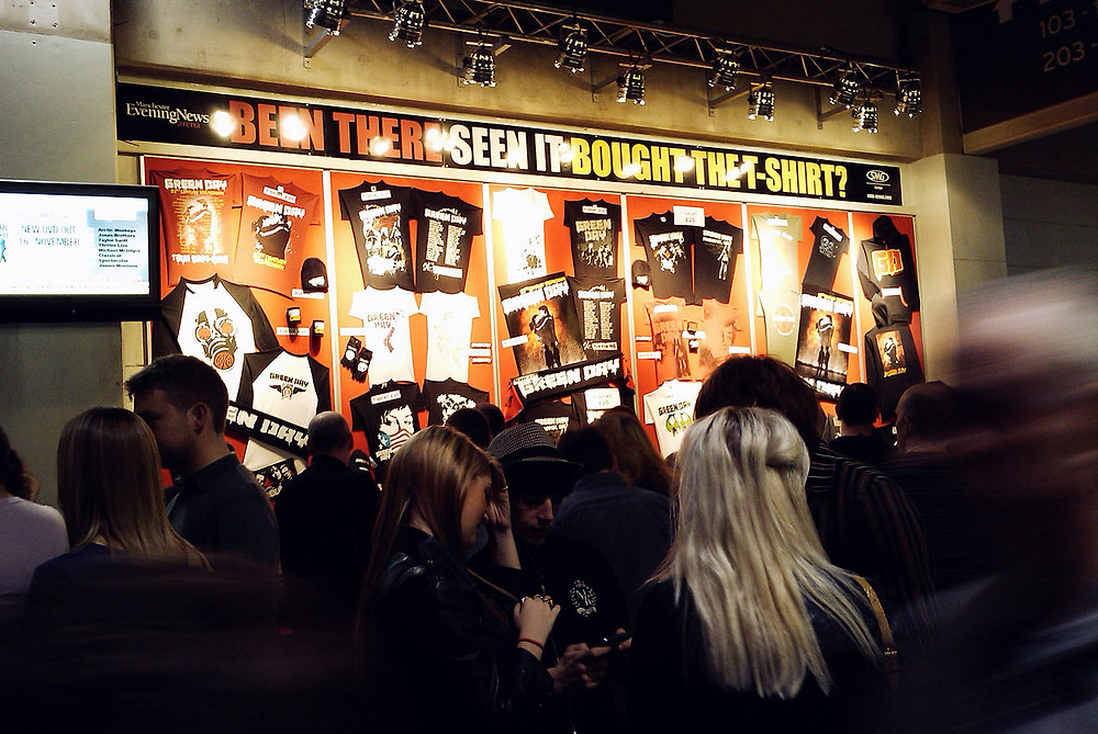 Green Day 21st Century Breakdown Tour merch in Manchester