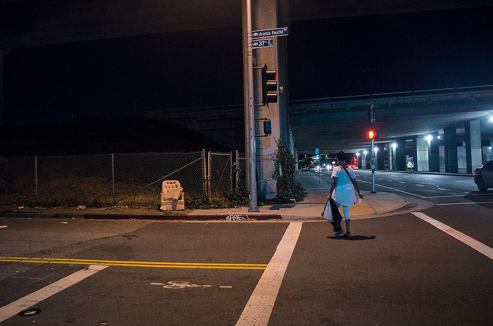 Oakland CA streets at night