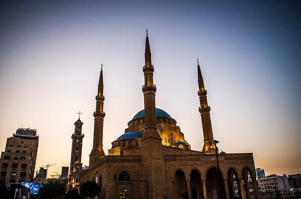 Sunset at Mohammad Al-Amin Mosque, Beirut