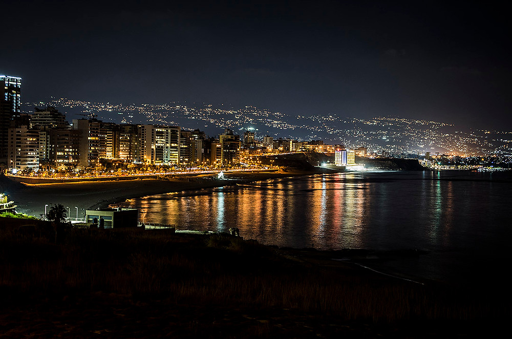 Beirut, Lebanon at night