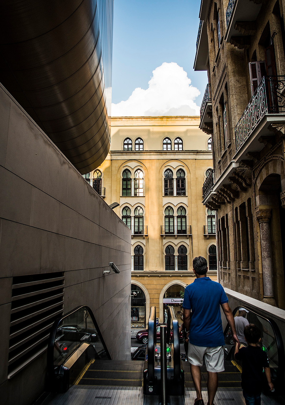 Escalator at Beirut Souks