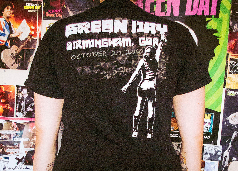 Green Day 21st Century Breakdown Tour shirt from Birmingham 2009