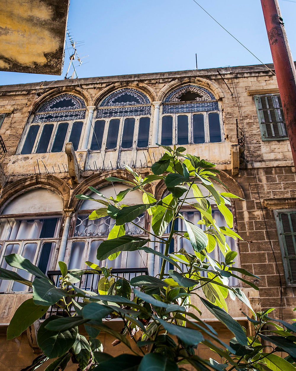 Building in Ras Beirut, Lebanon