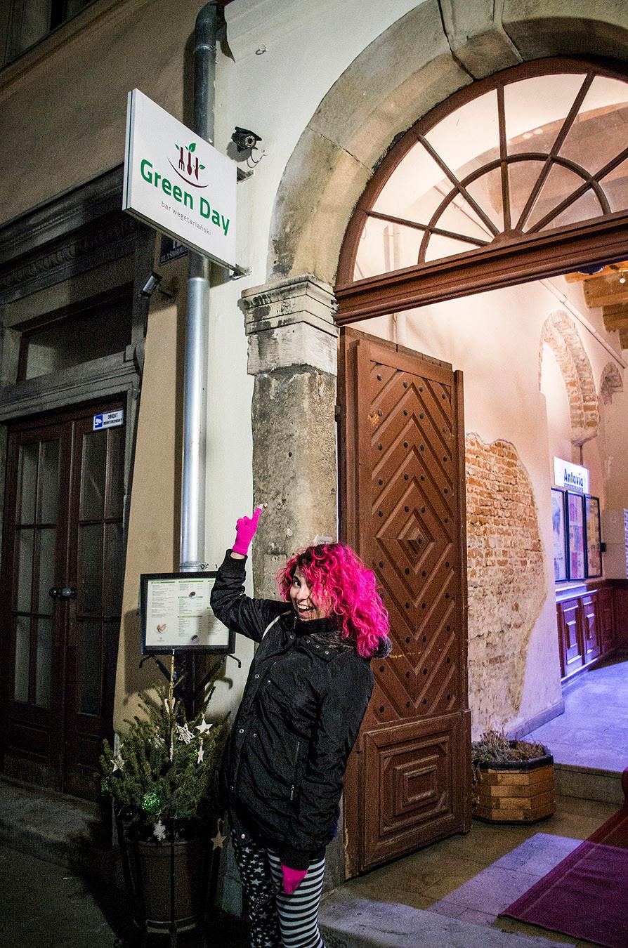 Green Day vegetarian restaurant, Krakow, Poland