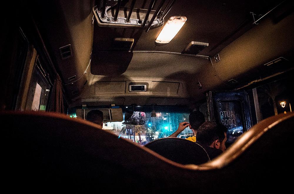 15 bus in Beirut at night