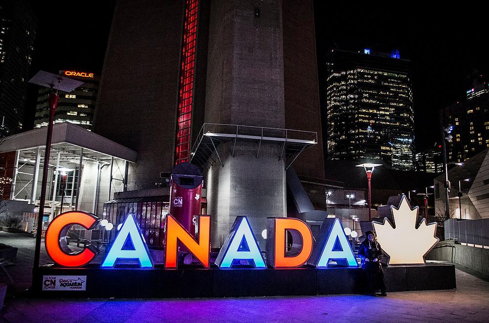 Canada sign CN Tower Toronto
