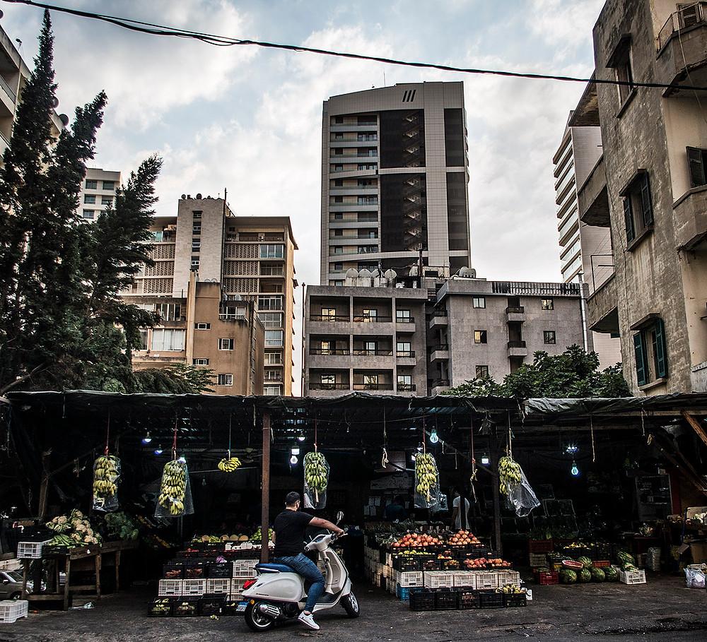 Fruit market in Raouche, Beirut, Lebanon
