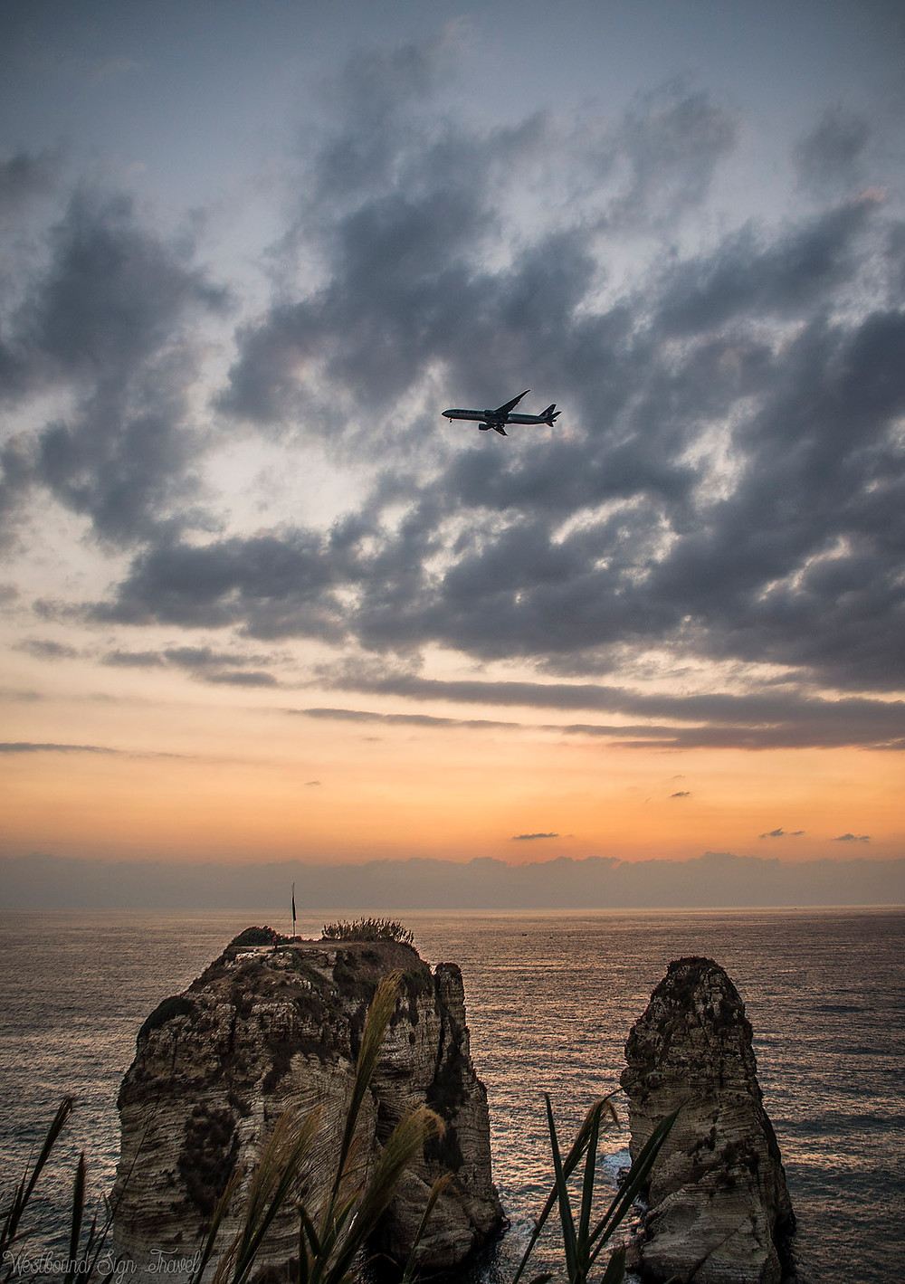 Sunset at Raouche Rocks, Beirut, Lebanon