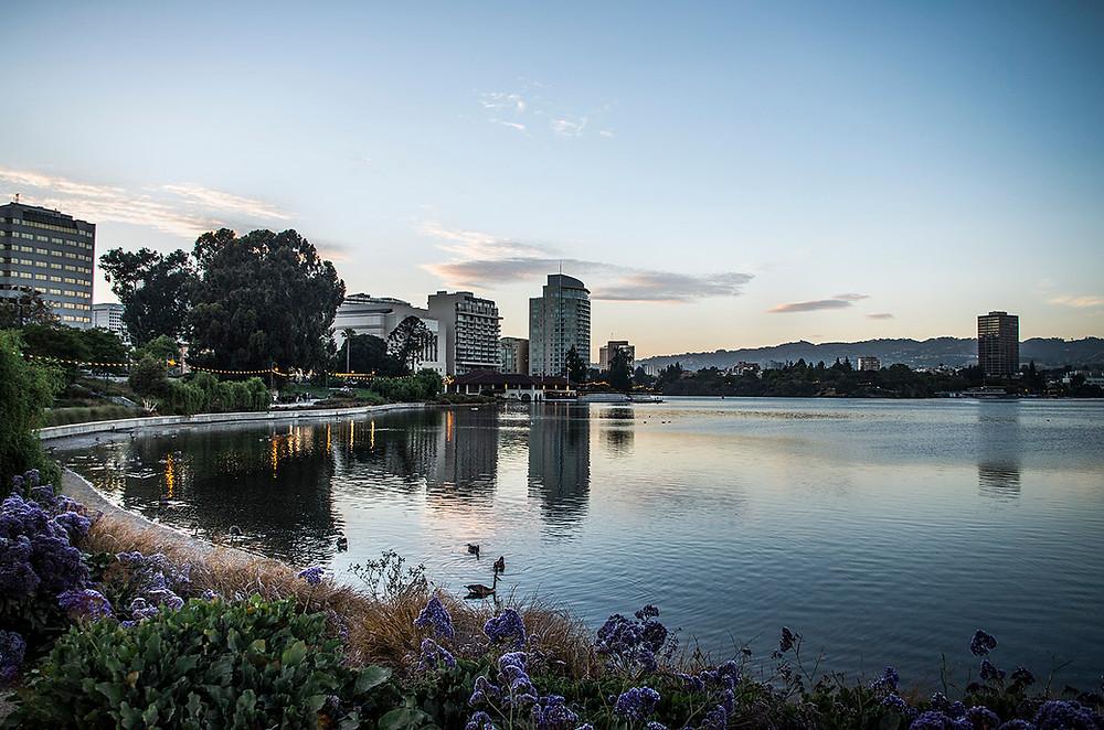 Lake Merritt Oakland sunset