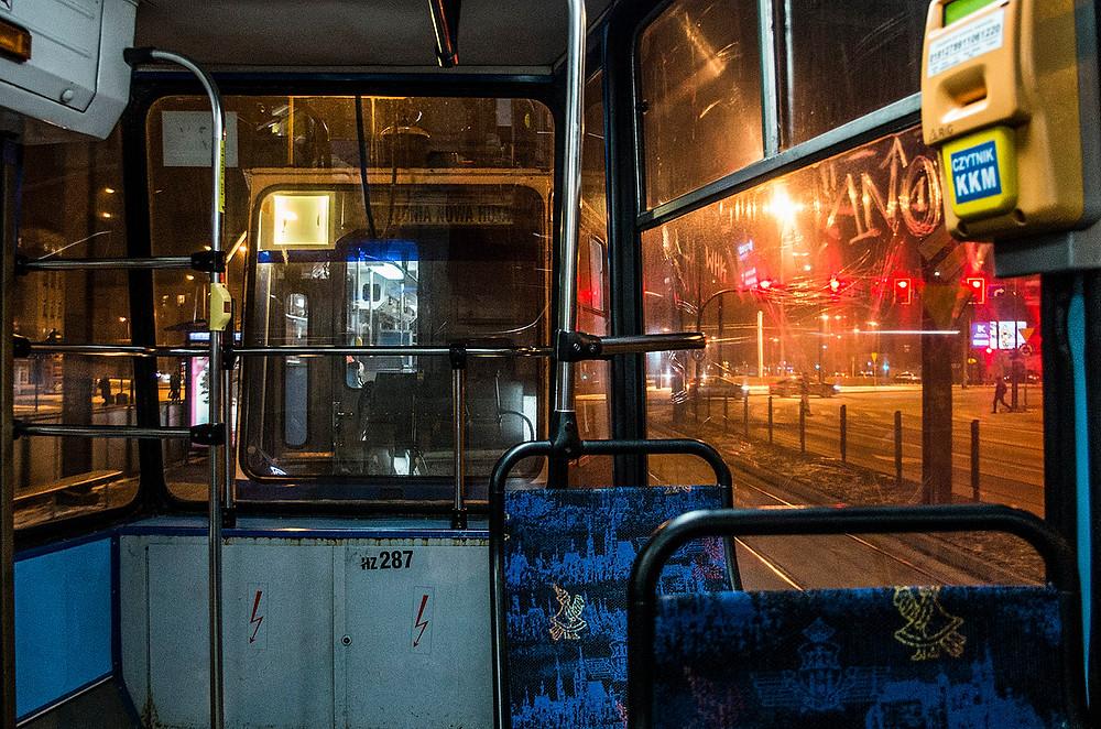 Krakow tram interior