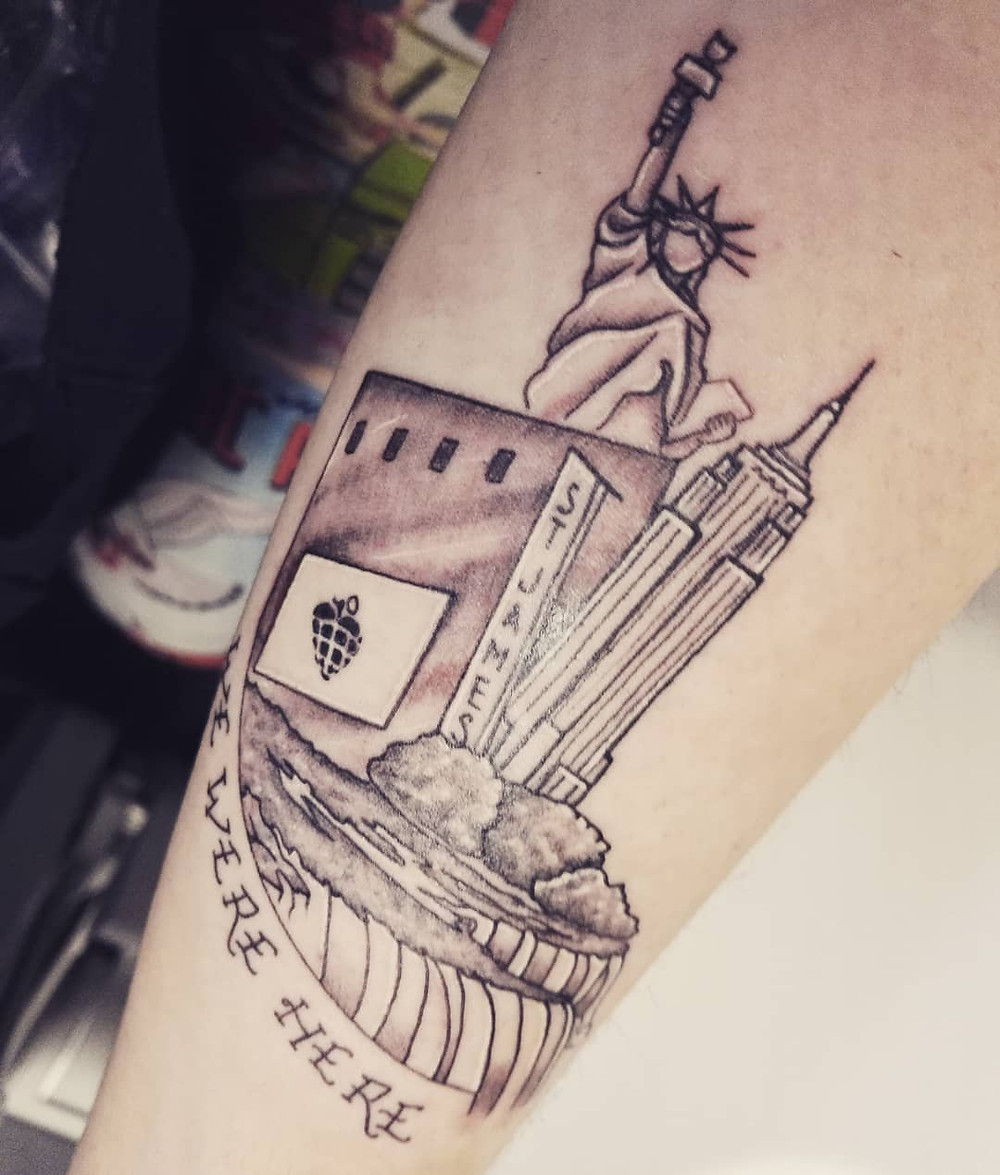Green Day American Idiot Broadway tattoo