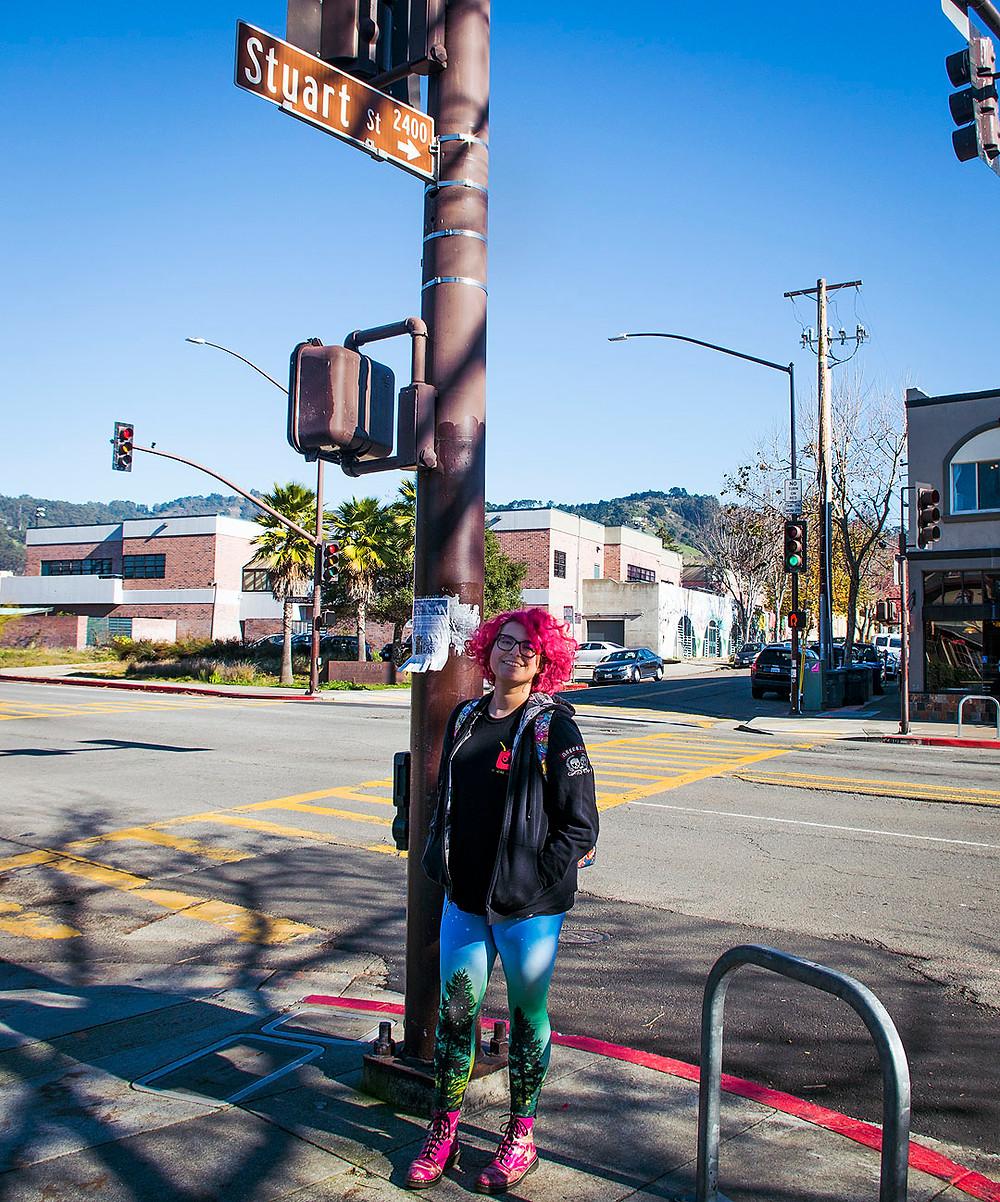 Stuart and the Ave corner, Berkeley