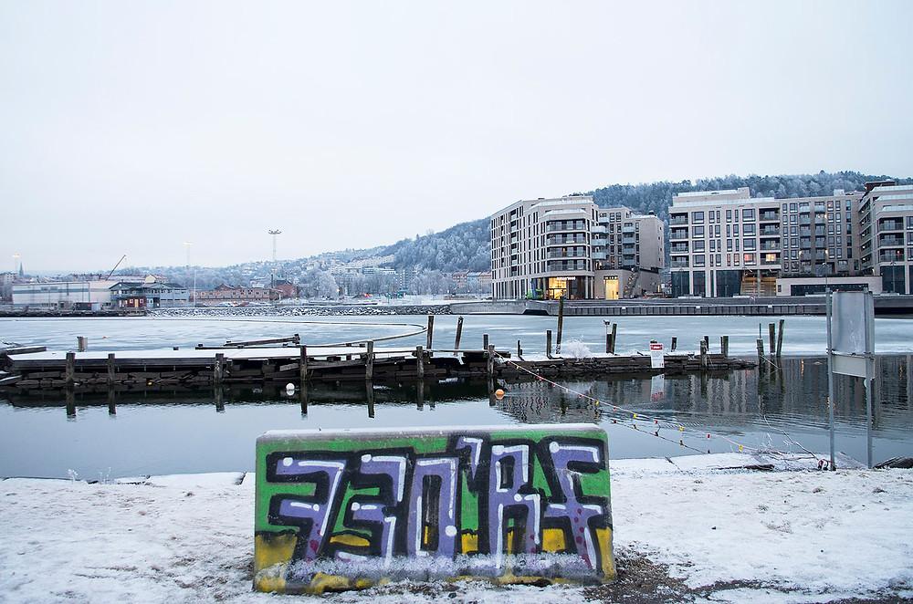 Snow in Oslo, Norway